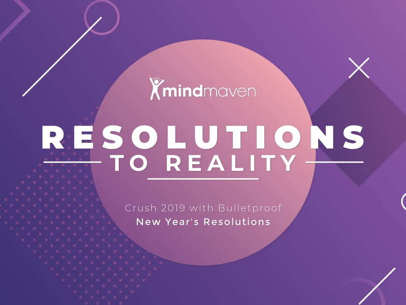 Resolutions to Reality Featured Image on Purple Background